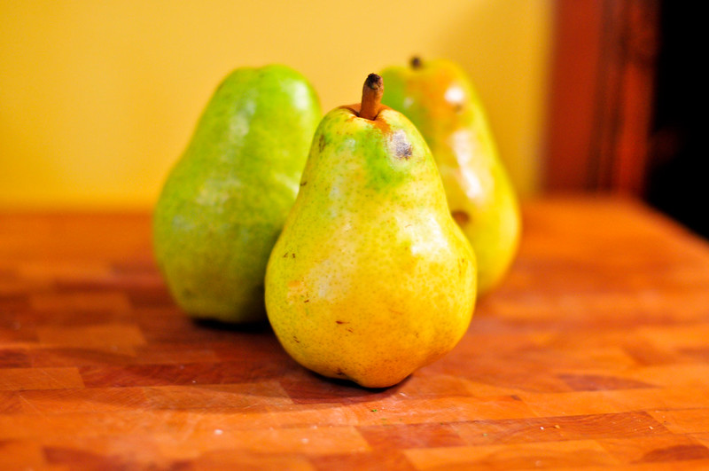 Bartlett Pears a la Mode