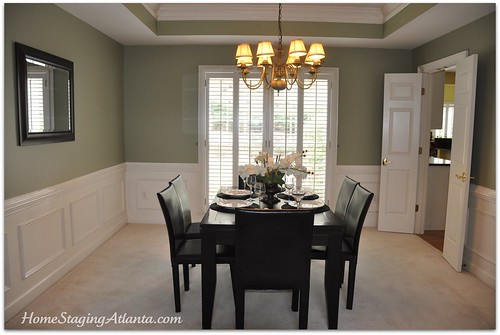 Home Staging Atlanta - A Vacant Home Transformation - Before And