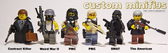 Custom minifigs group (Shobrick) Tags: cats dan painting movie weird amazing war lego si ak spray ii german american hazel killer tiny pistol spy contract ba tt minifig minifigs custom armory swat 47 holster pmc tactical uas brickarms shobrick