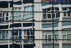 Io rifletto (sara zollino) Tags: building window glass architecture floors reflections mirror patterns belfast sarazollino