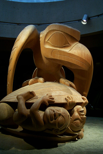 First Nation Carving Raven