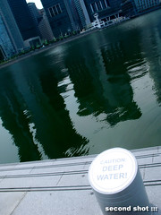 Caution Deep Water at Marina Bay