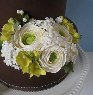 Ranunculus Arrangement by Petalsweet Cakes