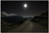 towards the moon (chris frick) Tags: longexposure moon night stars landscape switzerland bravo nightshot tripod perspective clarity wideangle moonlight jungfraujoch iso1600 jungfrau moench a550 hintisberg chrisfrick sony1118mm topazdenoise sonyalpha550 towardsthemoon remoteshuttecontrol
