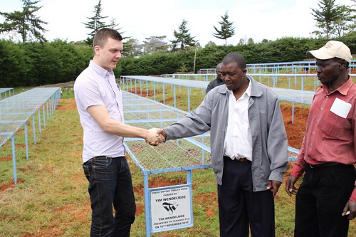 Official handover of drying tables to Tekangu from TW