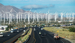 Obstacle course for low-flying helicopters....20101004_0050 (listorama) Tags: california road terrain landscape highway desert palmsprings freeway infrastructure i10 900 windturbine windfarm fromcar lightroom topography interstate10 northpalmsprings indiancanyondrive windarray ut2010sep
