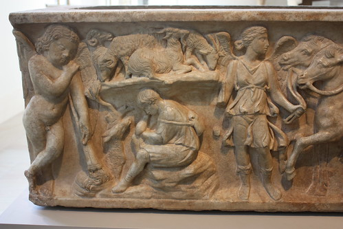 Marble sarcophagus with the myth of Endymion