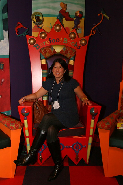 Angela on the throne