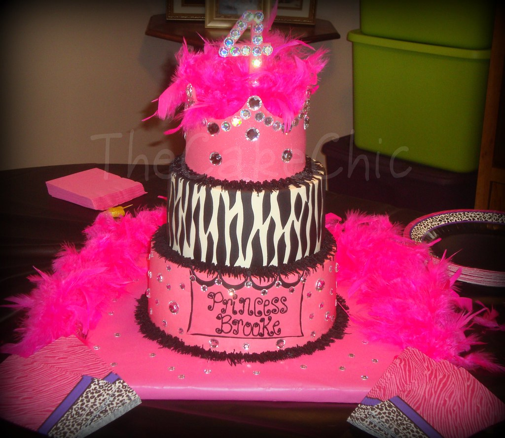 Zebra Princess Cake