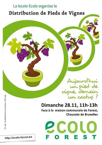 Action «Pieds de vignes», dimanche 28, 11h-13h (face à la maison communale)