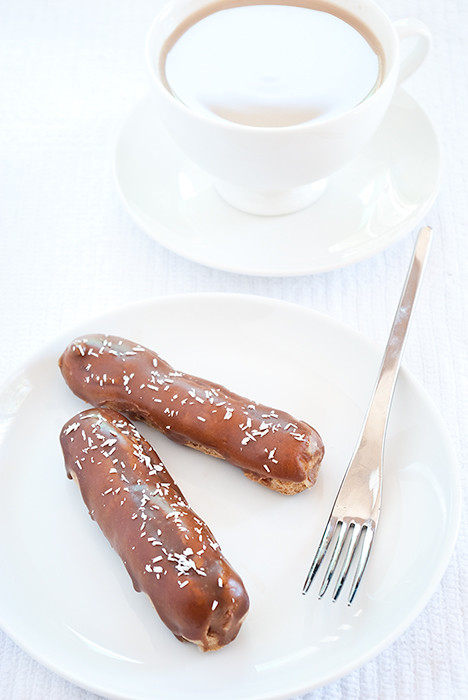 Spiced Chocolate Eclairs
