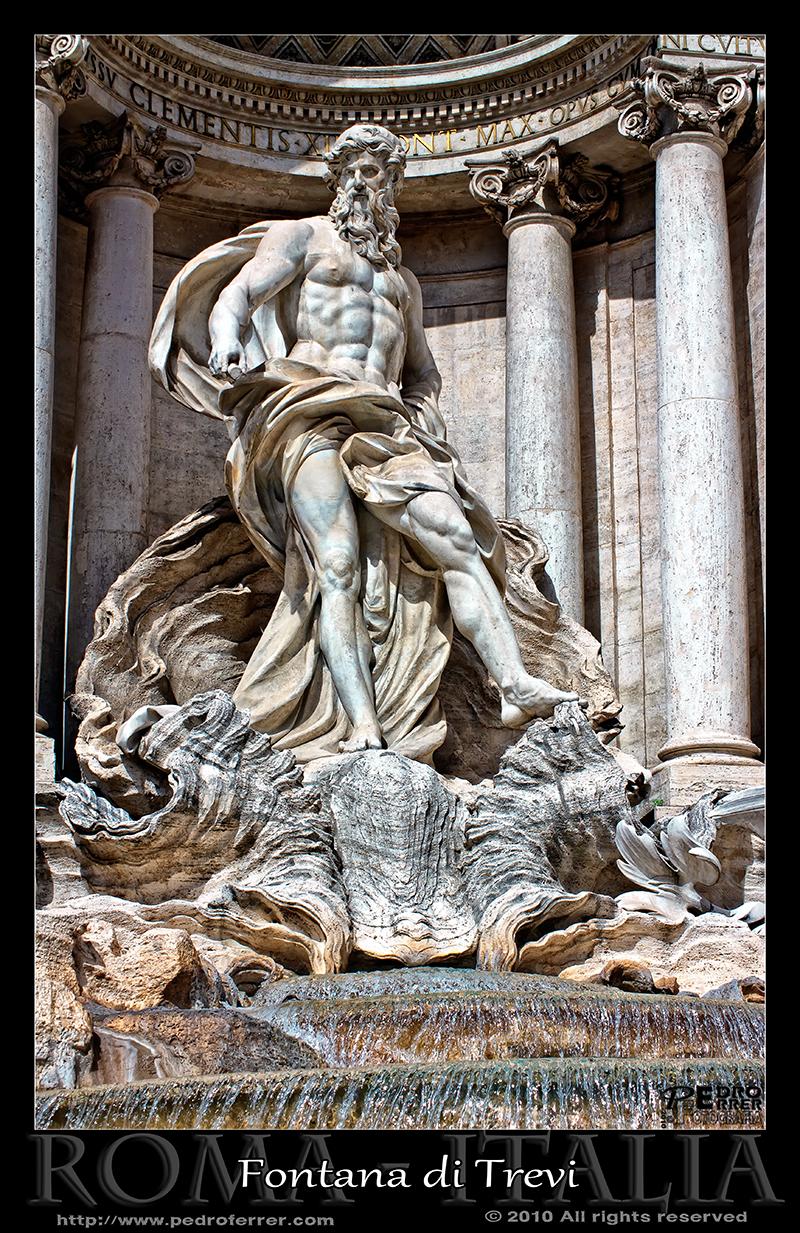 Roma - Fontana di Trevi - Neptuno