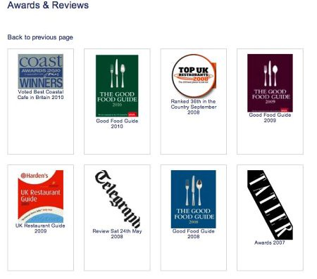 restaurant website reviews