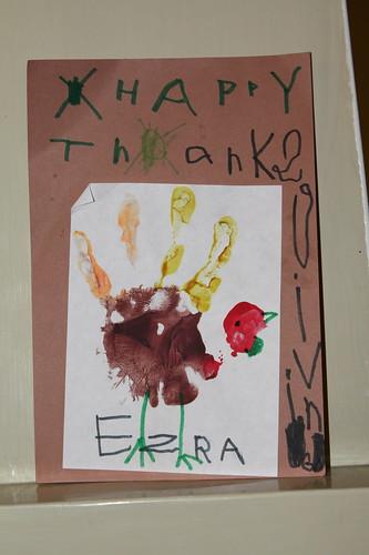 Ezra's Handprint Turkey