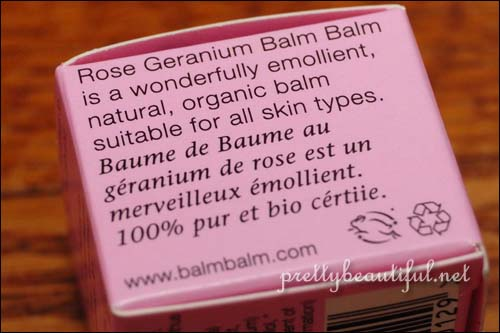 Balm Balm Lip Balm (and more)  in Rose Geranium On side
