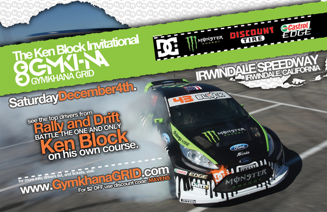 Ken Block Gymkhana Grid Invitational Mass Appeal Car Show Irwindale CA
