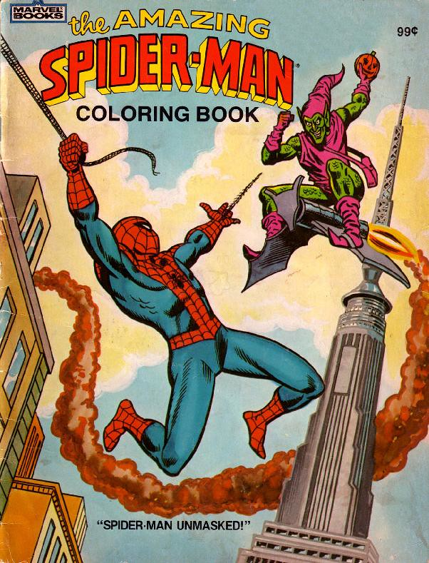 Spider-Man Unmasked! Coloring Book001