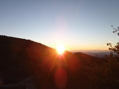 The sun rising on Mauna Kea, Hawai'i