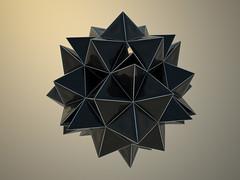 Truncated Cube #3 (Turinboy) Tags: wallpaper bw render virtual modular math mathematics geometria poliedro vray dodecaedro modulare truncatedcube