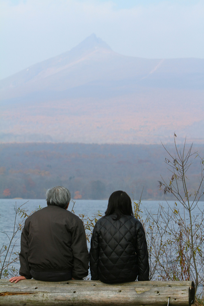 Mt.Komagatake, Lake Onuma and an old couple