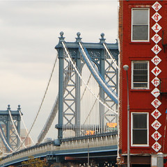 Manhattan Bridge (gwiwer) Tags: nyc bridge red newyork sign square chinatown chinese explore manhattanbridge pikestreet chinesisch divisionstreet