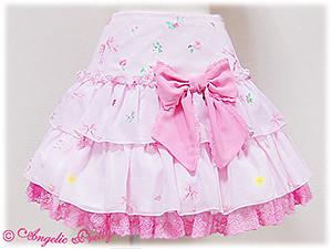 Powder Rose Two Tier Ruffle Skirt pink