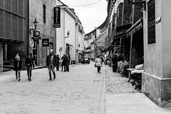 Wool Market 🇪🇪 (avaughan585) Tags: tallinn estonia blackandwhite blackwhite black white monochrome street candid market baltic travel vacation buildings noiretblanc light city people bw old new