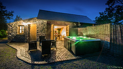 Hot Tub Time Machine (C.A.Photogenics) Tags: holiday hottub cottage wales brecon beacons colour contrast long exposure night midnight warm summer millbrook crickhowell
