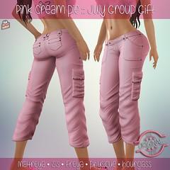 July Group Gift :: Pink Cream Pie (Pink Cream Pie) Tags: group gift pink cream pie second life sl belleza maitreya lara isis freya slink hourglass physique capris cargo jean