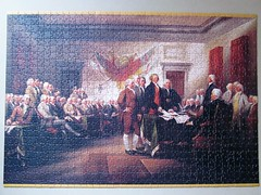 The Declaration of Independence, July 4, 1776 (pefkosmad) Tags: pomegranate jigsaw puzzle 1000pieces complete leisure pastime hobby painting art johntrumbull thedeclarationofindependencejuly41776 independence july4 1776 history independenceday new unused