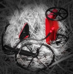 Abandoned Play (curiouscameras) Tags: tricycle red childish playing newbie everyimagetellsastory