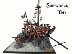 Shipwreck Bay (Jacob Nion) Tags: lego pirate ship hideout shipwreck cannon island