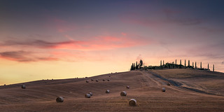 Italy - Sunset in Val d'Orcia