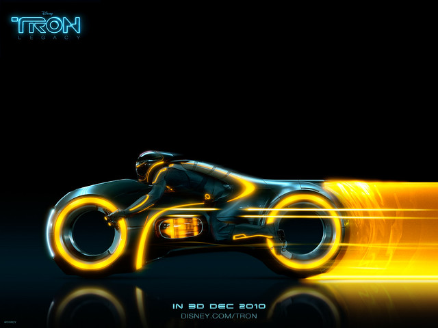 Tron Legacy Yellow Light Cycle