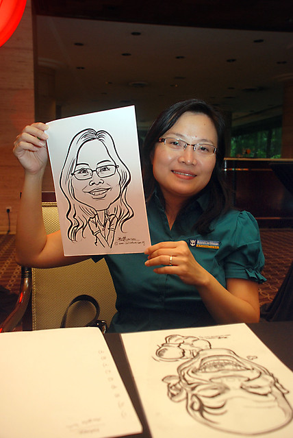 Caricature live sketching for Travel Partners Appreciation Dinner - World Fiesta - 1