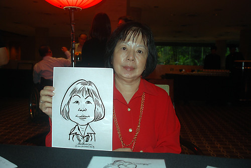 Caricature live sketching for Travel Partners Appreciation Dinner - World Fiesta - 3