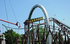 rollercoaster Rasender Roland at first drop (MR-Fotografie) Tags: park nikon roland rollercoaster hansa nessie achterbahn hansapark d90 rasender