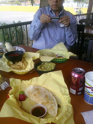 @PhxRailFood in action at Americas Taco Shop in Tempe