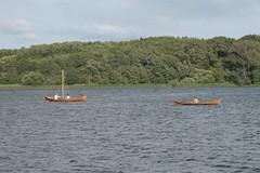 Slawenboot Perun und Nökkvi auf dem Haddebyer Noor bei Haithabu - Museumsfreifläche Wikinger Museum Haithabu WHH 24-07-2010