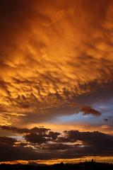 Despues de la tormenta (G) Tags: sunset red orange cloud tree silhouette azul clouds mexico arbol atardecer evening rojo silhouettes nubes silueta puebla ocaso siluetas nube tarde later anaranjado remolinio volcandongollo