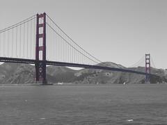 Selective Colour, Golden Gate Bridge (ebalch) Tags: sanfrancisco california blackandwhite bw casio goldengatebridge selectivecolor selectivecolour selectivecolouring exs600 colorloss colourloss ebalch