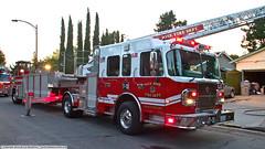 SJS Truck 13 (YFD) Tags: crimson canon fire action 911 sanjose firetruck sjfd emergency ems firedepartment tiller spartan gladiator laddertruck tda structurefire eos7d aerialappliance tractordrawnaerial