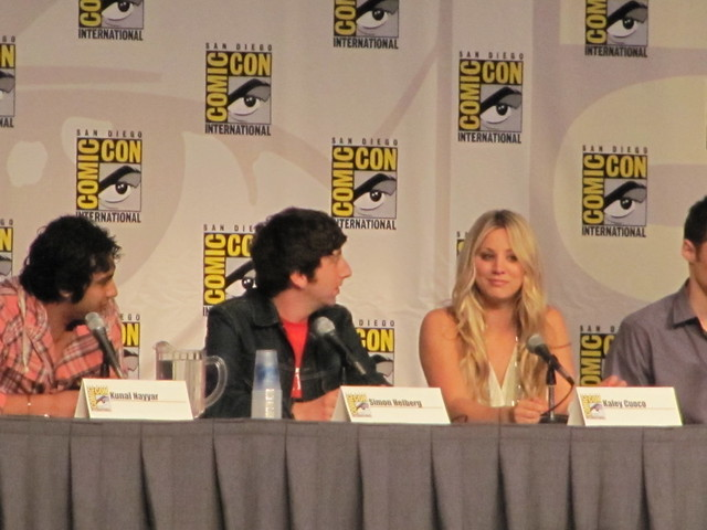 Comic-Con 2010 The Big Bang Theory elenco