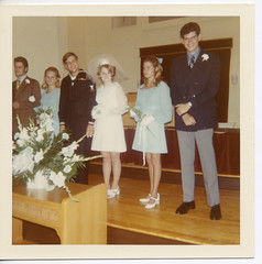 As long as you both shall live (Awkward Boy Hero) Tags: wedding church oregon portland groom bride northwest groomsman weddingparty maidofhonor bestman oldphotos vintagephotos foundphotos antiquephotos somanyuniquetreasures exceptmaybenotoregon awkwardboyhero