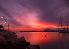 :o) (Ilias Orfanos) Tags: longexposure sunset red sea reflection clouds port marina rocks olympus greece lamps filters patras hoyand4 hoyand8 mygearandmepremium mygearandmebronze mygearandmesilver mygearandmeplatinum