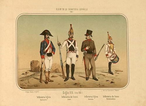 011- Álbum de la Infantería Española..-1861- conde de Clonard