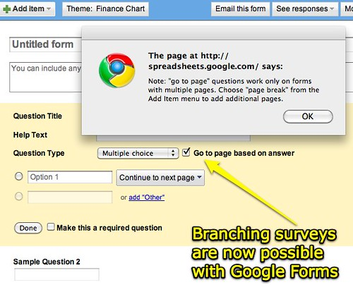 Branching Surveys in Google Forms