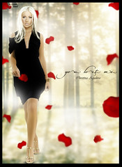 Christina Aguilera - You Lost Me (Kervin R.) Tags: red me forest lost petals bionic you christina fake raul regalo aguilera desing blend rojas petalos kervin