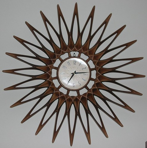 My first starburst clock