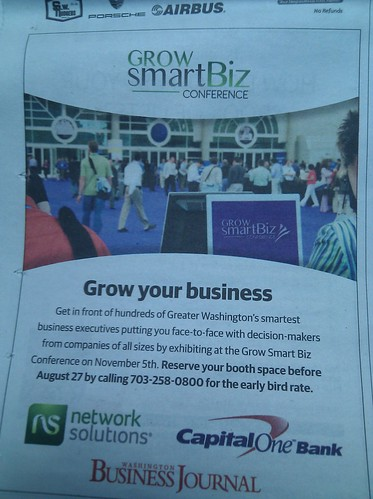 save the date #growsmartbiz conference DC Nov 5 details coming up